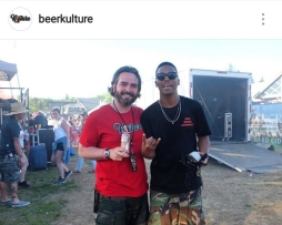 Ryan Burke (Head Brewer for Angry Orchard Cider) [Left] Lupe Fiasco (Music Artist) [Right]