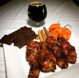 Brew and Feed Darkheart Russian Imperial Stout Chicken Legs