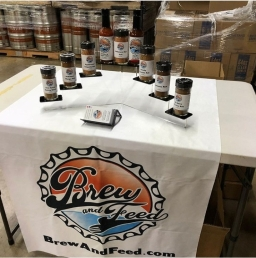 Brew and Feed Promo Booth