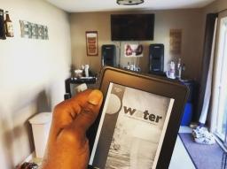 Robert Moreland Reading about Water