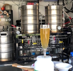 Brew and Feed Homebrewed Basil Witbier