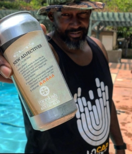 Teo Hunter of @DopeandDank repping Uncap Everything w/ a Monkish Beer in hand