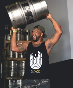 Eric in an Uncap Everything Tank at Scofflaw Brewing Company